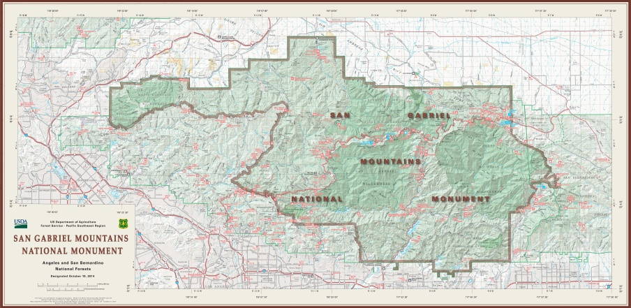 National Monument status splits Angeles National Forest in two ...