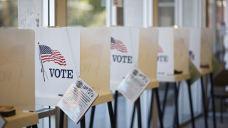 Bipartisan Election Efficiency Measure Passes Assembly Elections Committee - Voting booths at during California Primary - Marc Steinorth - California 40th Assembly District